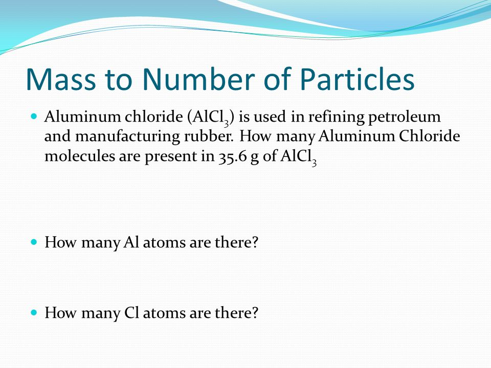 Mass to Number of Particles