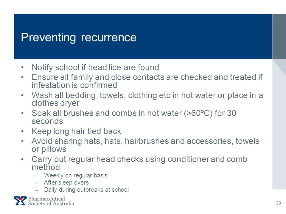 Preventing recurrence