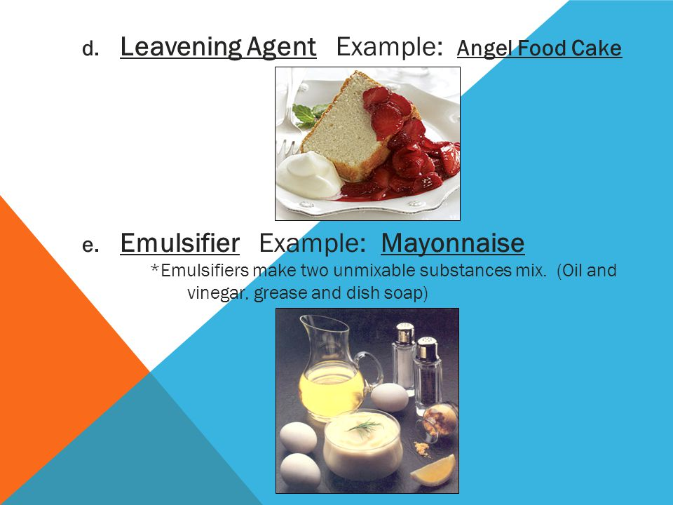 Leavening Agent Example: Angel Food Cake