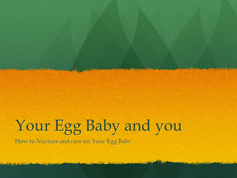 How to Nurture and care for Your Egg Baby