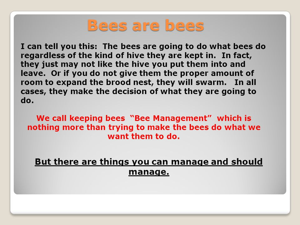 But there are things you can manage and should manage.