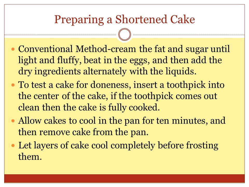 Preparing a Shortened Cake