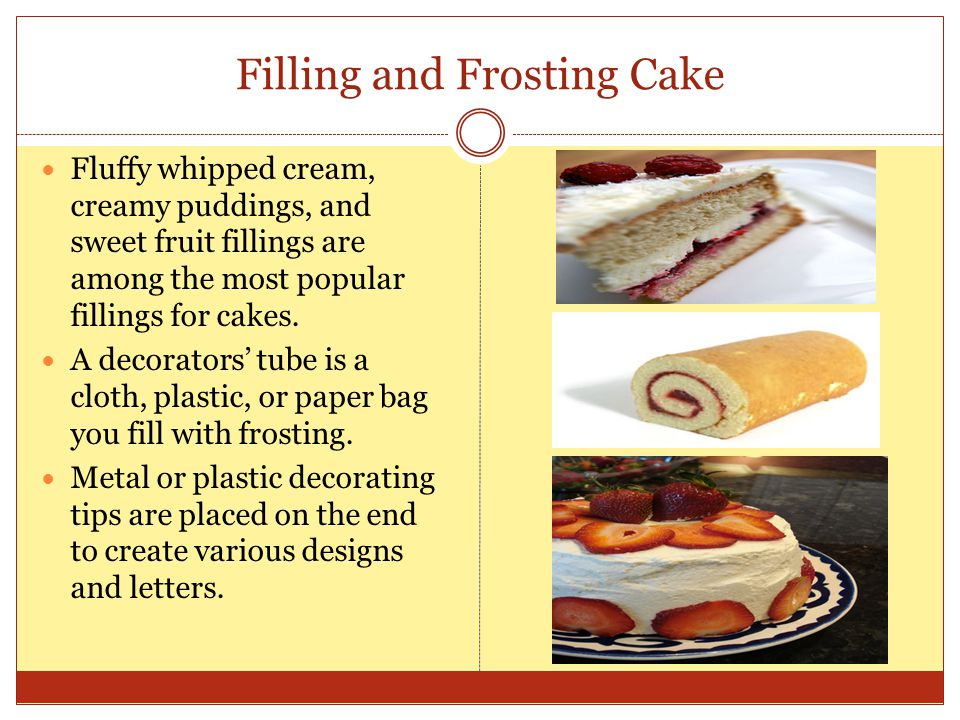 Filling and Frosting Cake