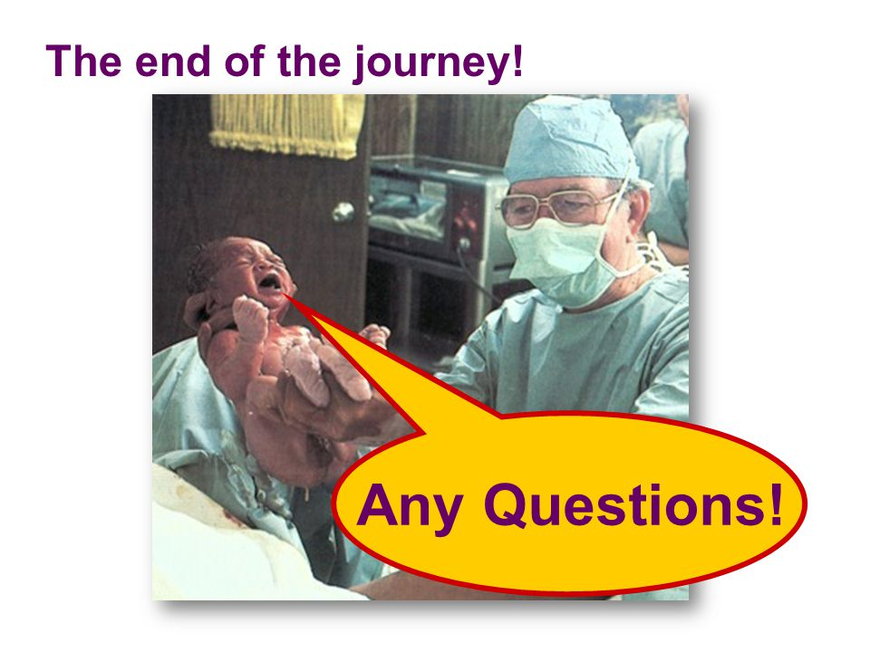 The end of the journey! Any Questions!