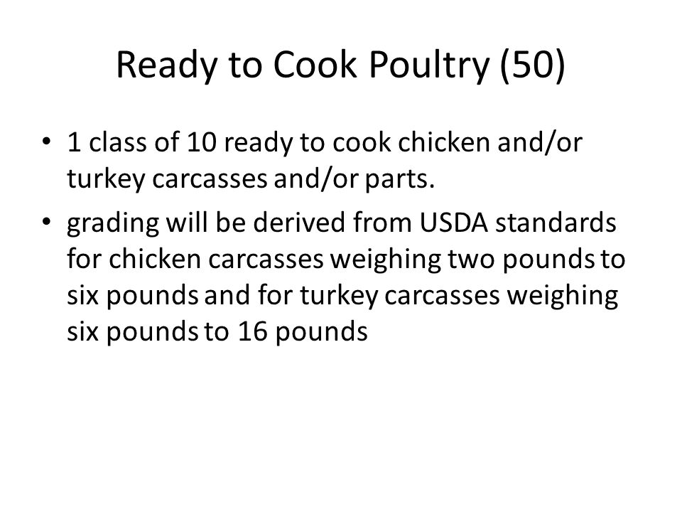 Ready to Cook Poultry (50)