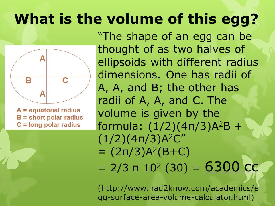 What is the volume of this egg