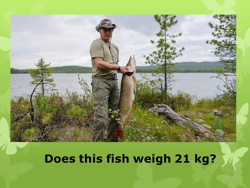 Does this fish weigh 21 kg