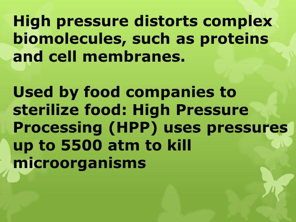 High pressure distorts complex