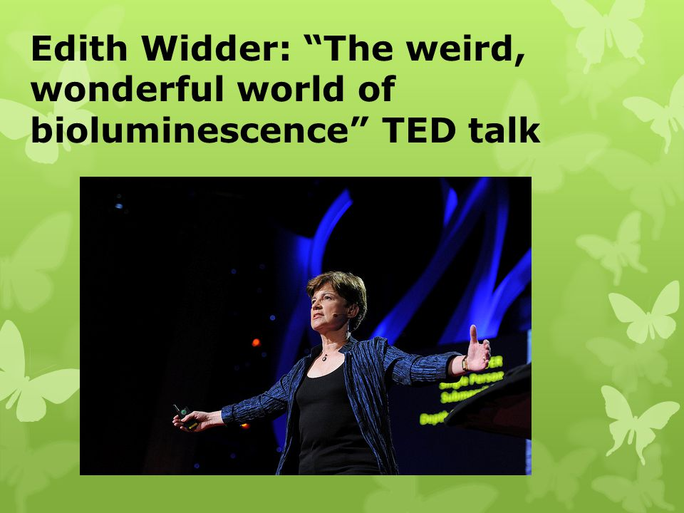 Edith Widder: The weird, wonderful world of bioluminescence TED talk