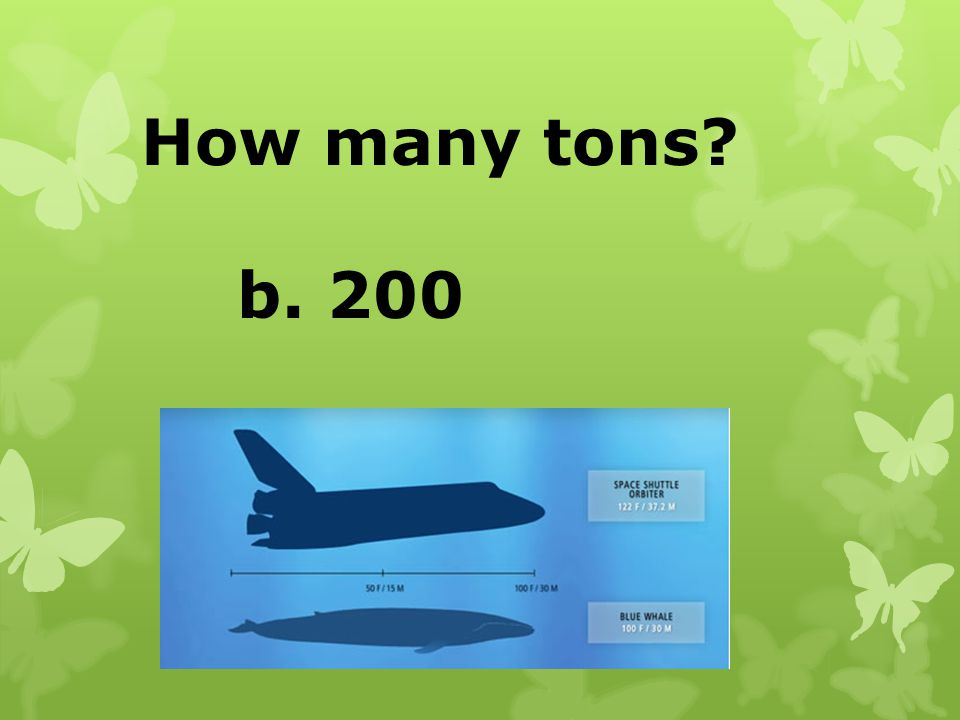 How many tons b. 200