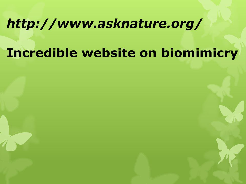 http://www.asknature.org/ Incredible website on biomimicry
