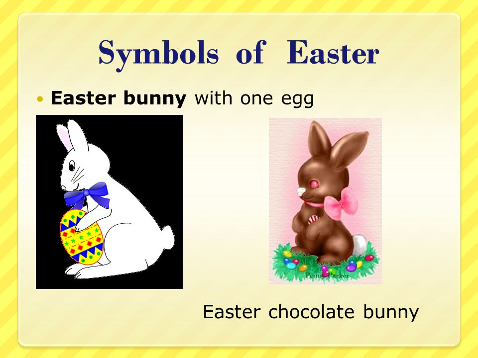 Symbols of Easter Easter bunny with one egg Easter chocolate bunny