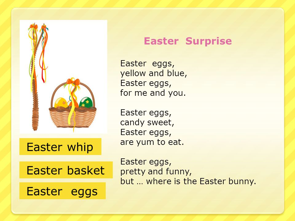Easter whip Easter basket Easter eggs Easter eggs, yellow and blue,