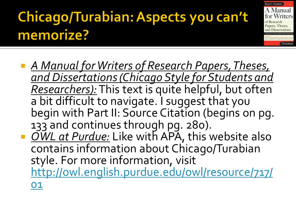 kate turabians a manual for writers of term papers theses and dissertations (5th edition) 1 kate l turabian, the chicago manual of style 15th edition or a manual for writers of research papers, theses, and dissertations, 7 th ed (chicago, il: the university of chicago press, 2007), 142.