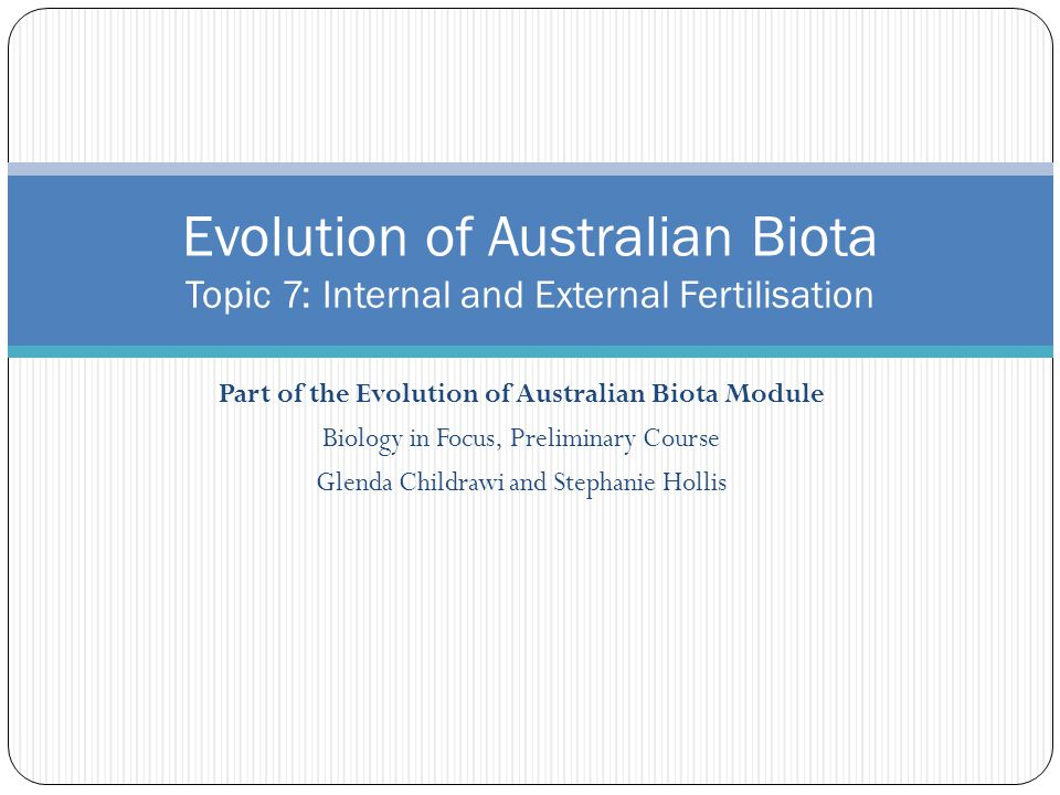 Part of the Evolution of Australian Biota Module
