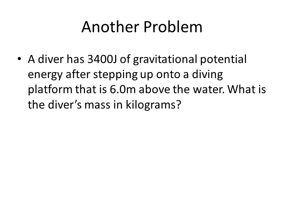 Another Problem