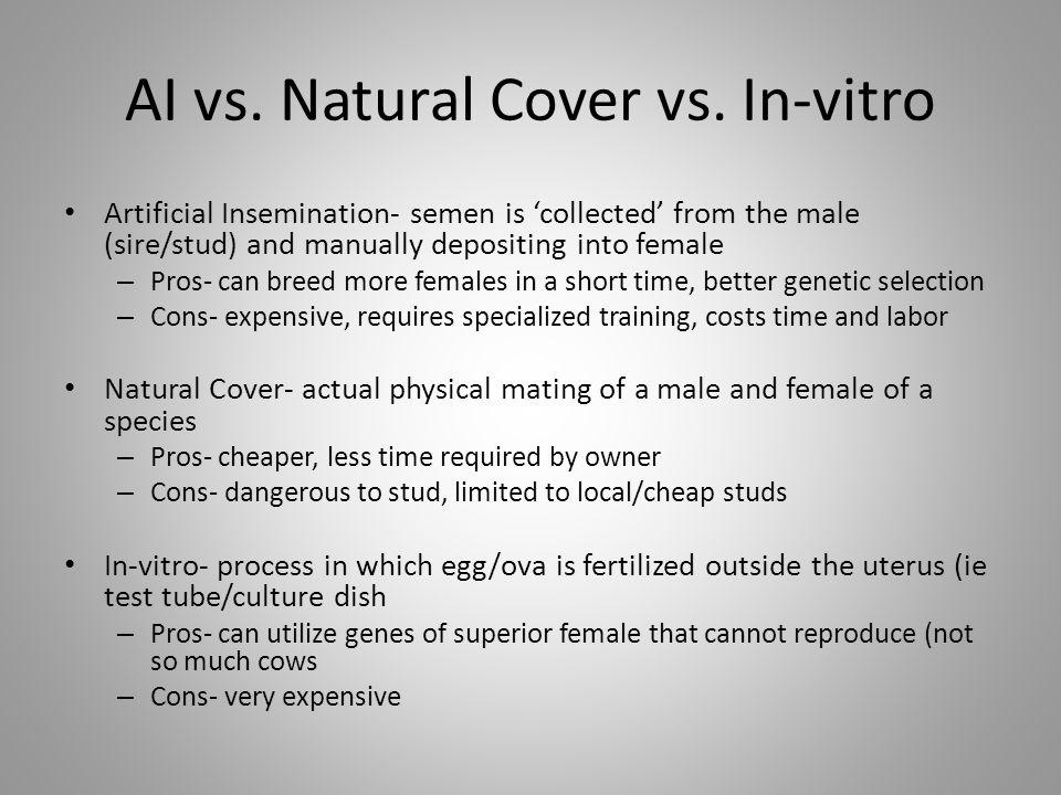 AI vs. Natural Cover vs. In-vitro