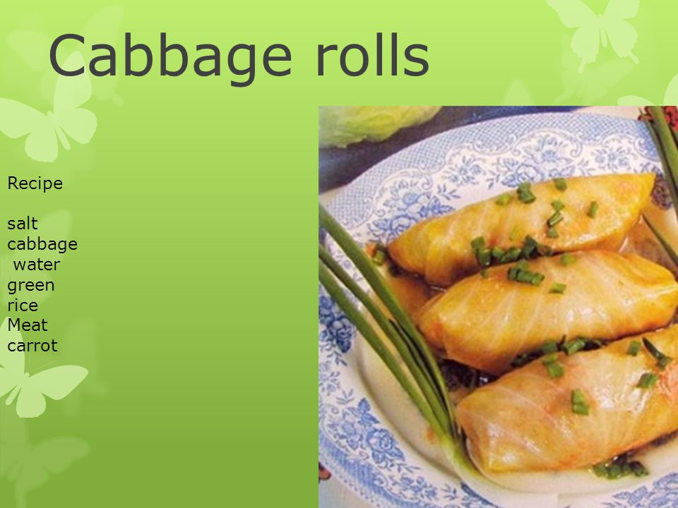 Cabbage rolls Recipe salt cabbage water green rice Meat carrot