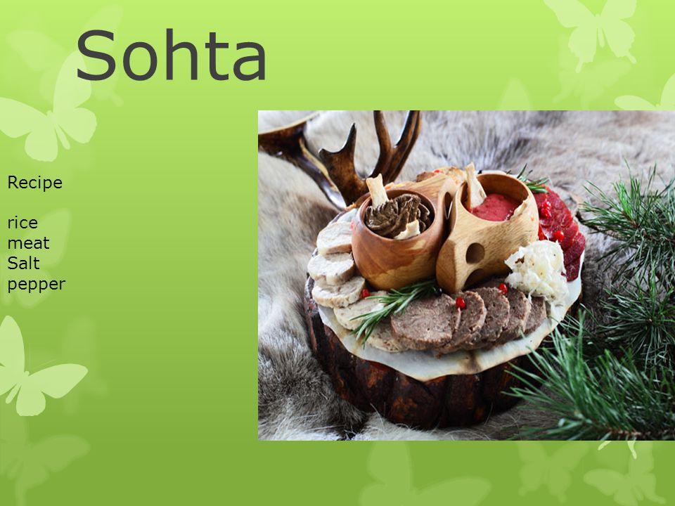 Sohta Recipe rice meat Salt pepper