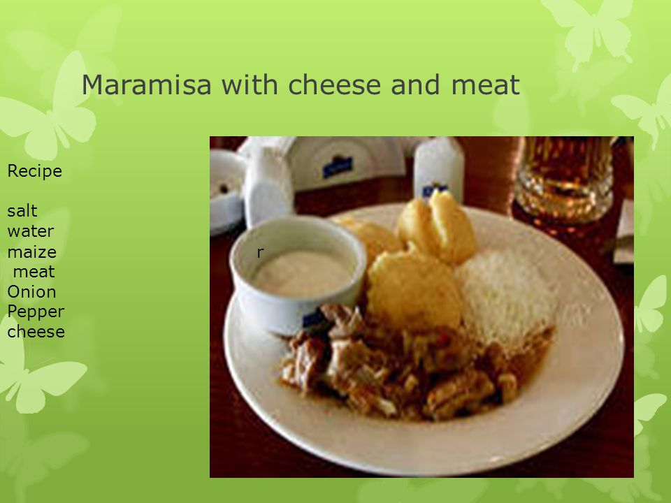 Maramisa with cheese and meat