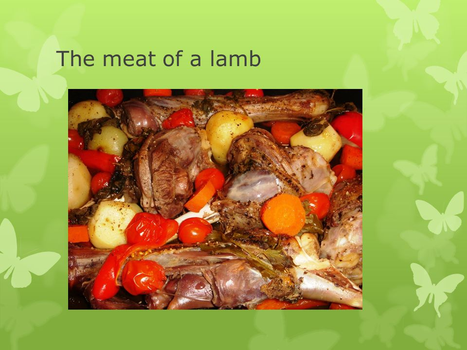 The meat of a lamb