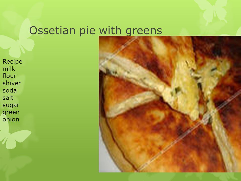 Ossetian pie with greens