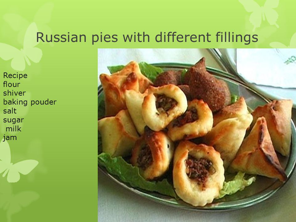 Russian pies with different fillings