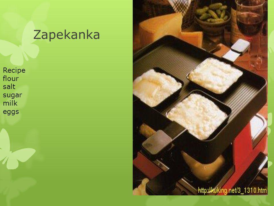 Zapekanka Recipe flour salt sugar milk eggs