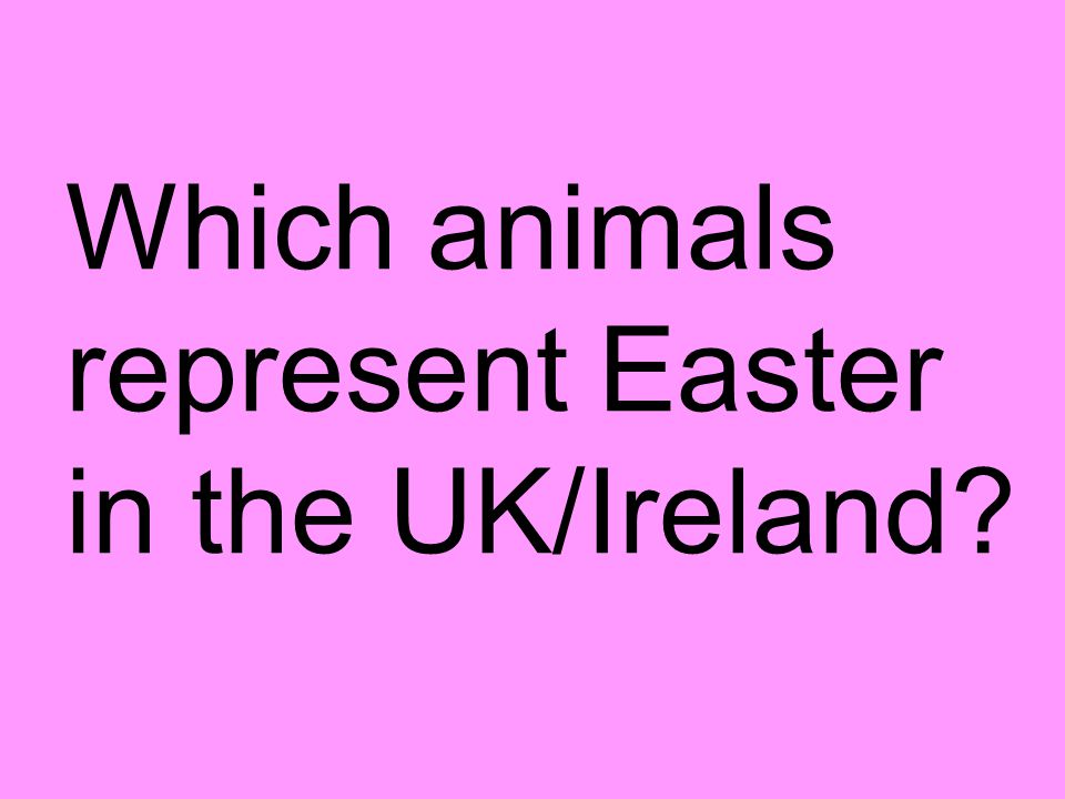 Which animals represent Easter in the UK/Ireland
