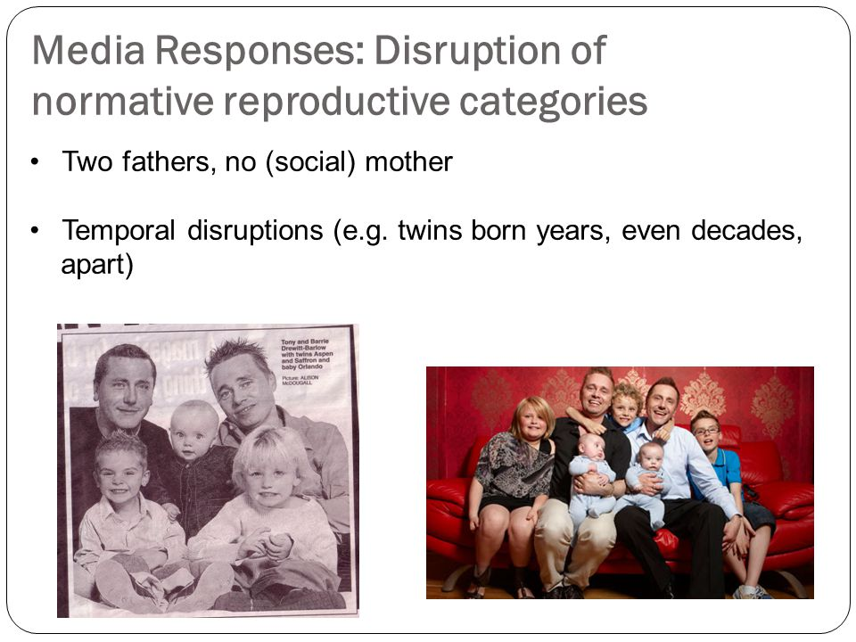 Media Responses: Disruption of normative reproductive categories