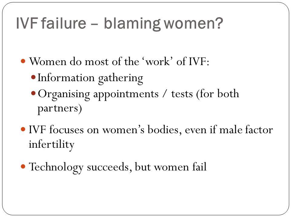 IVF failure – blaming women