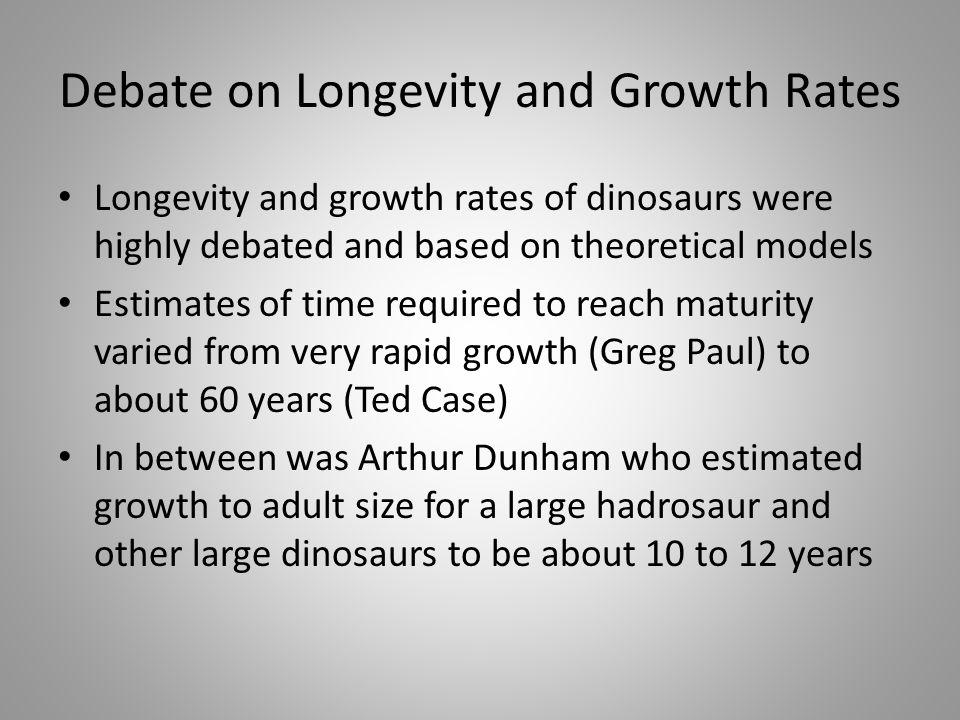 Debate on Longevity and Growth Rates
