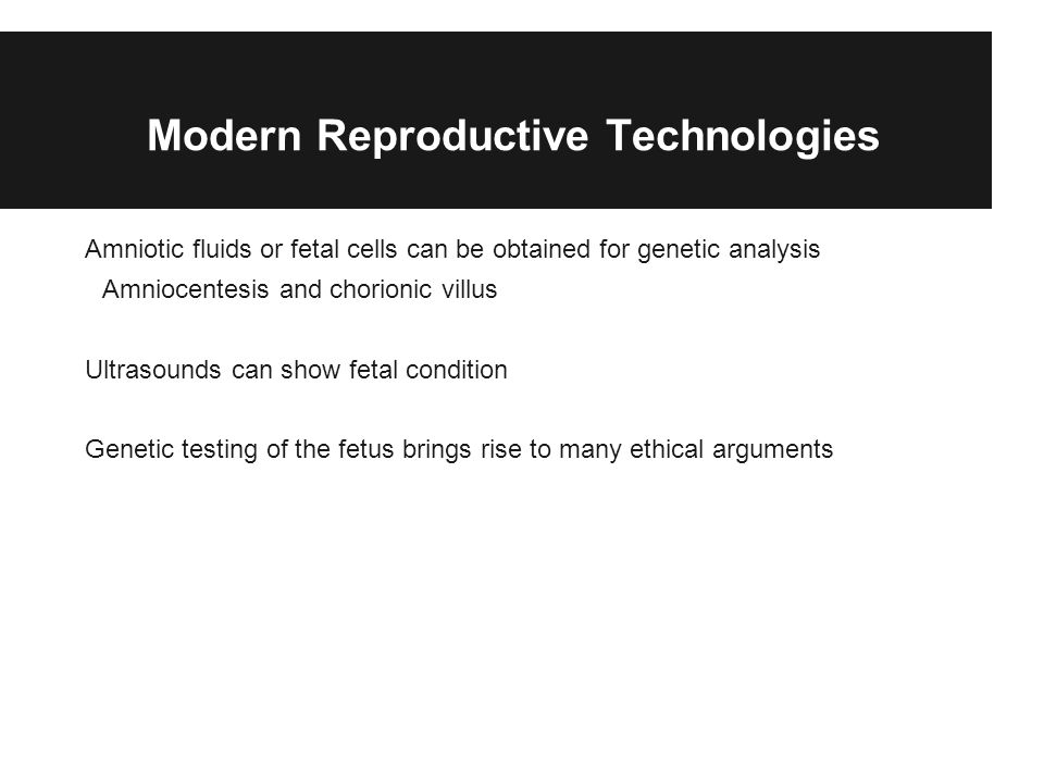 Modern Reproductive Technologies