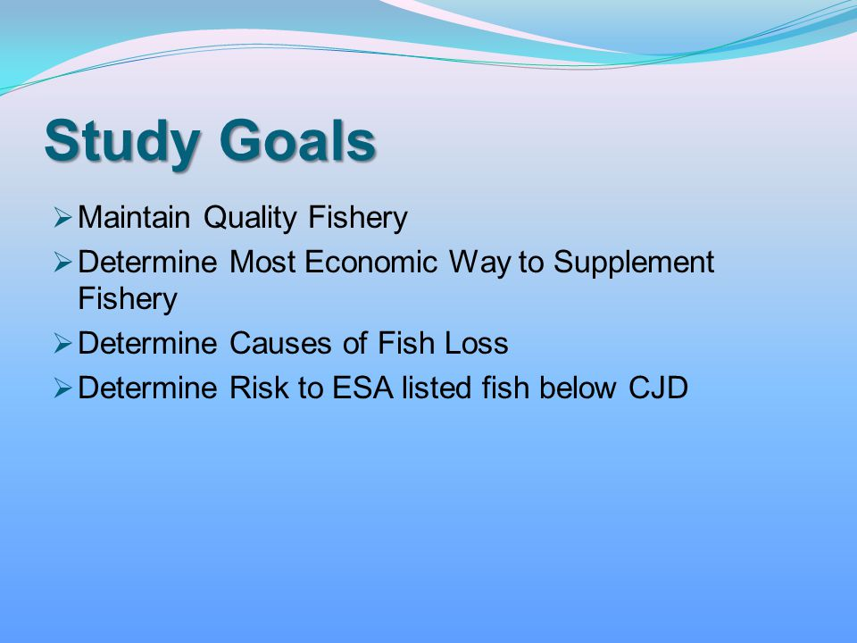 Study Goals Maintain Quality Fishery