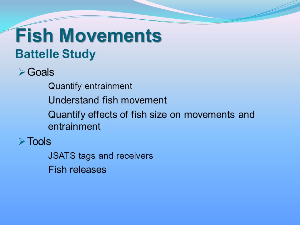 Fish Movements Battelle Study