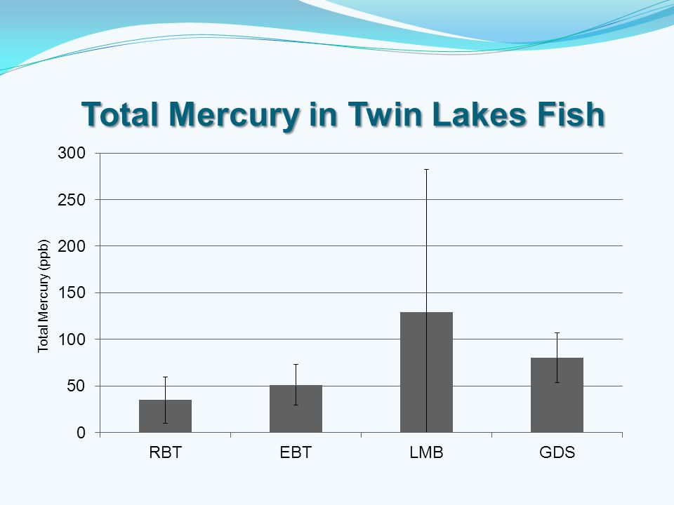 Total Mercury in Twin Lakes Fish