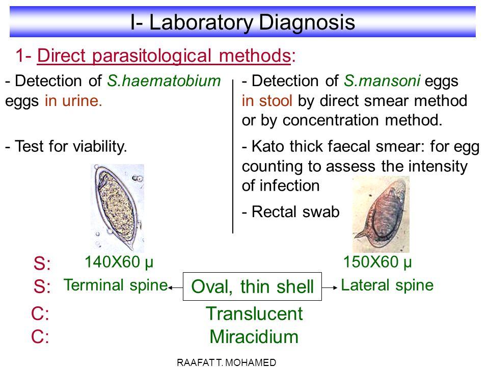 I- Laboratory Diagnosis