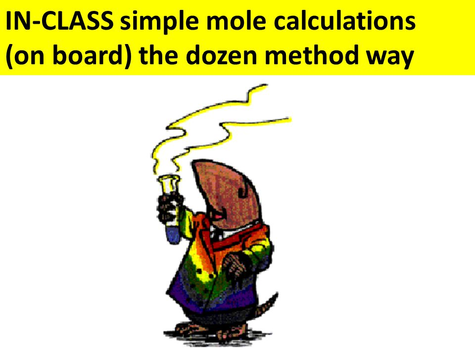 IN-CLASS simple mole calculations