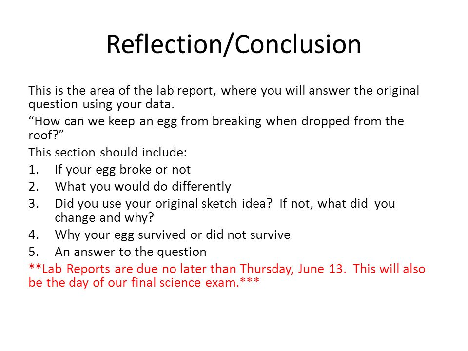 how to write a conclusion for a reflective report
