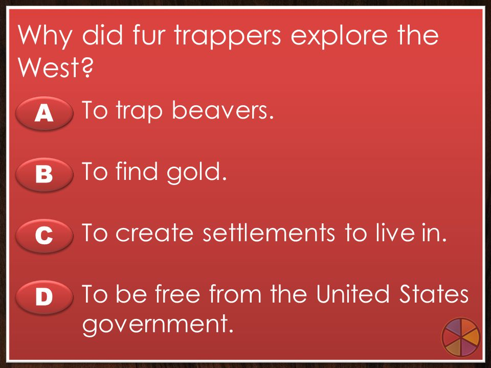 Why did fur trappers explore the West