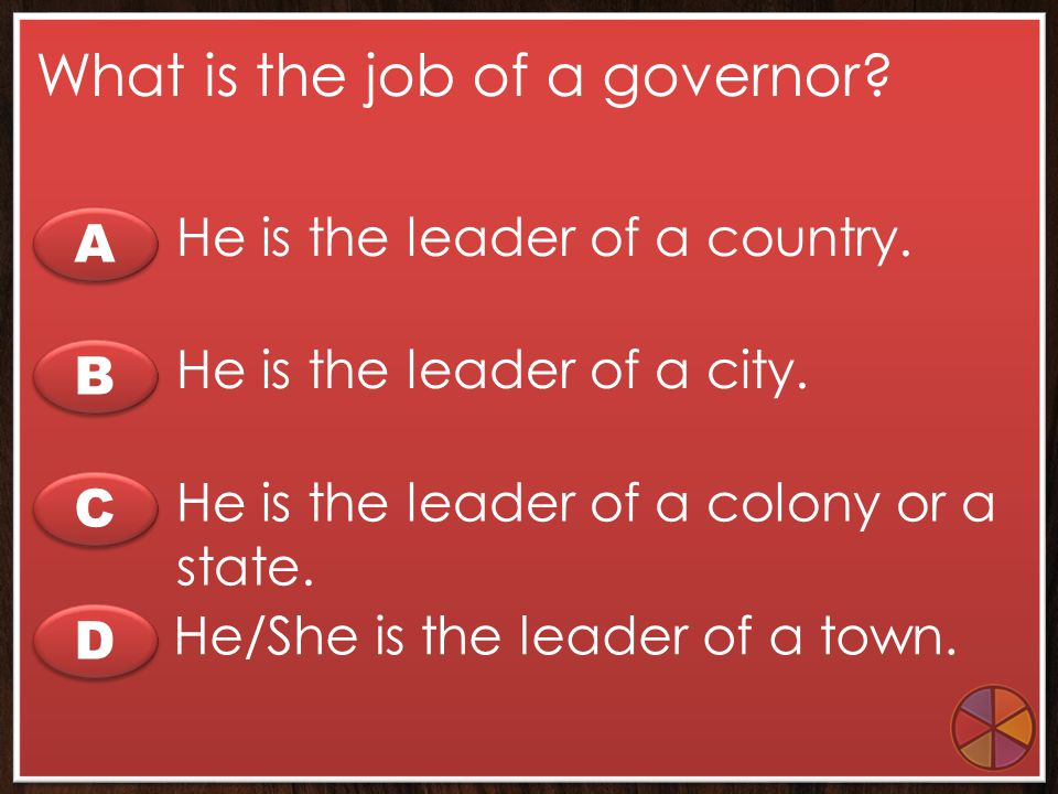 What is the job of a governor