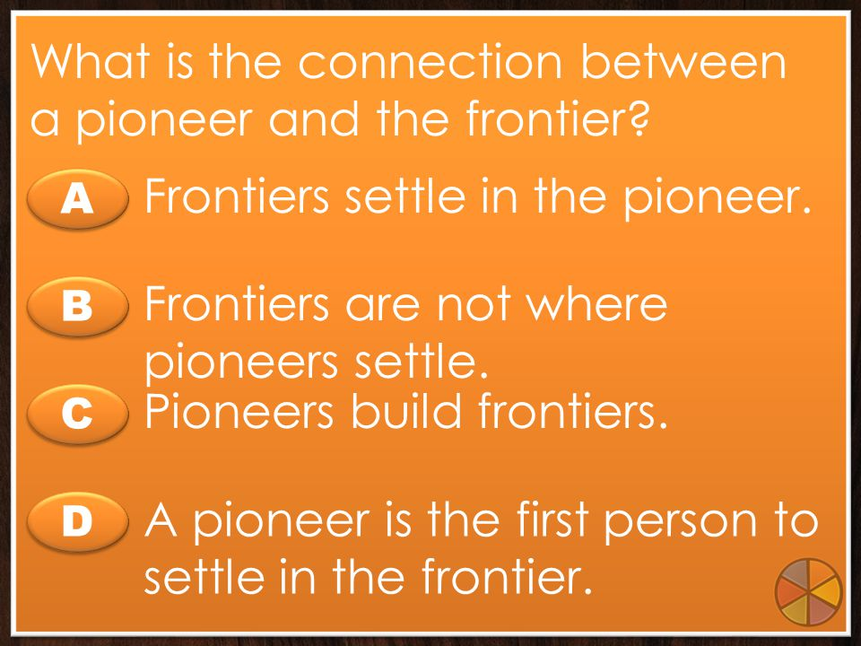 What is the connection between a pioneer and the frontier
