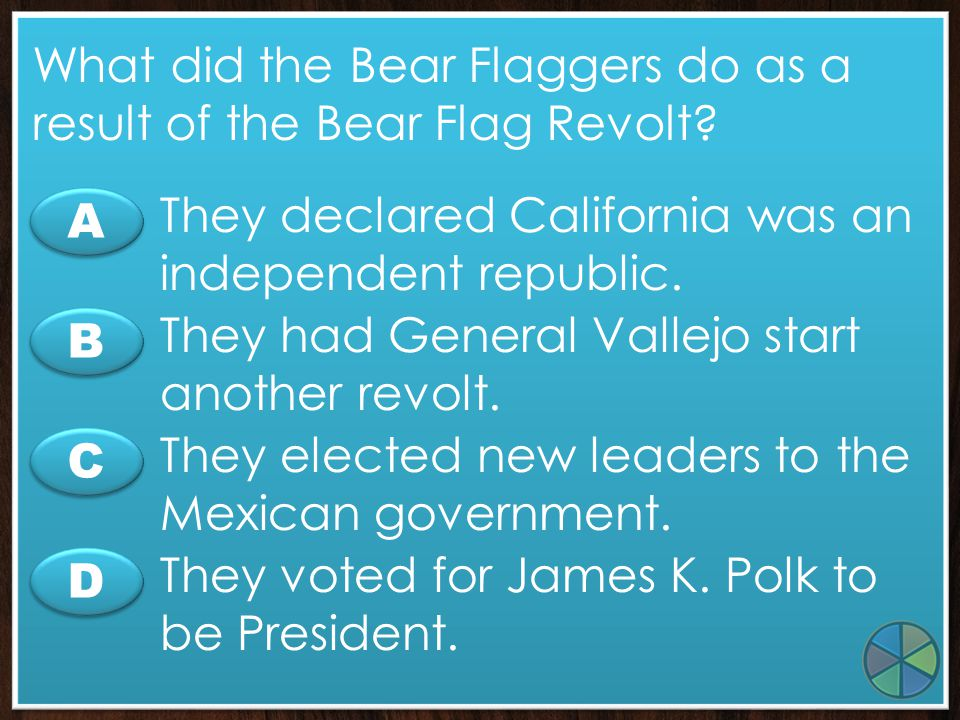 What did the Bear Flaggers do as a result of the Bear Flag Revolt