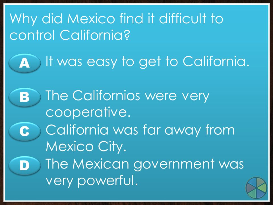 Why did Mexico find it difficult to control California