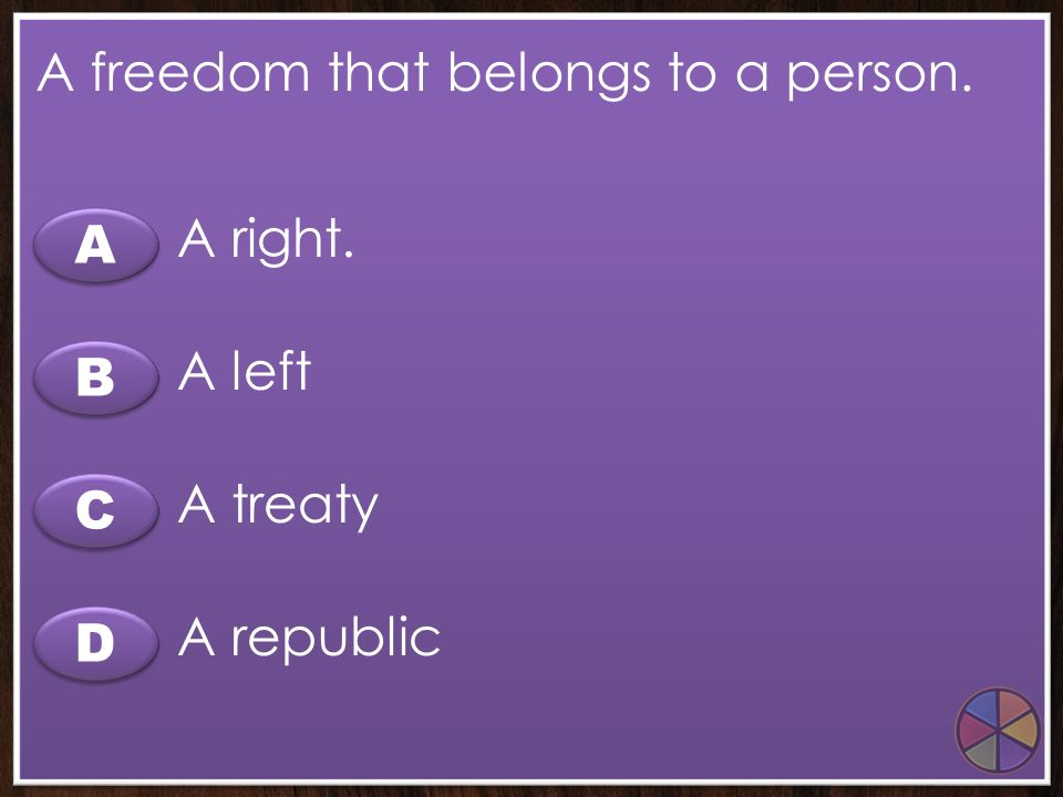 A freedom that belongs to a person.