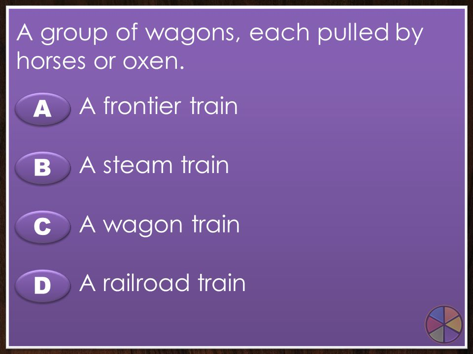 A group of wagons, each pulled by horses or oxen.