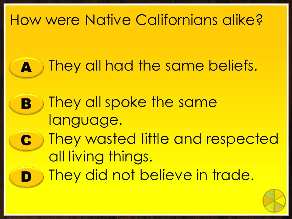How were Native Californians alike
