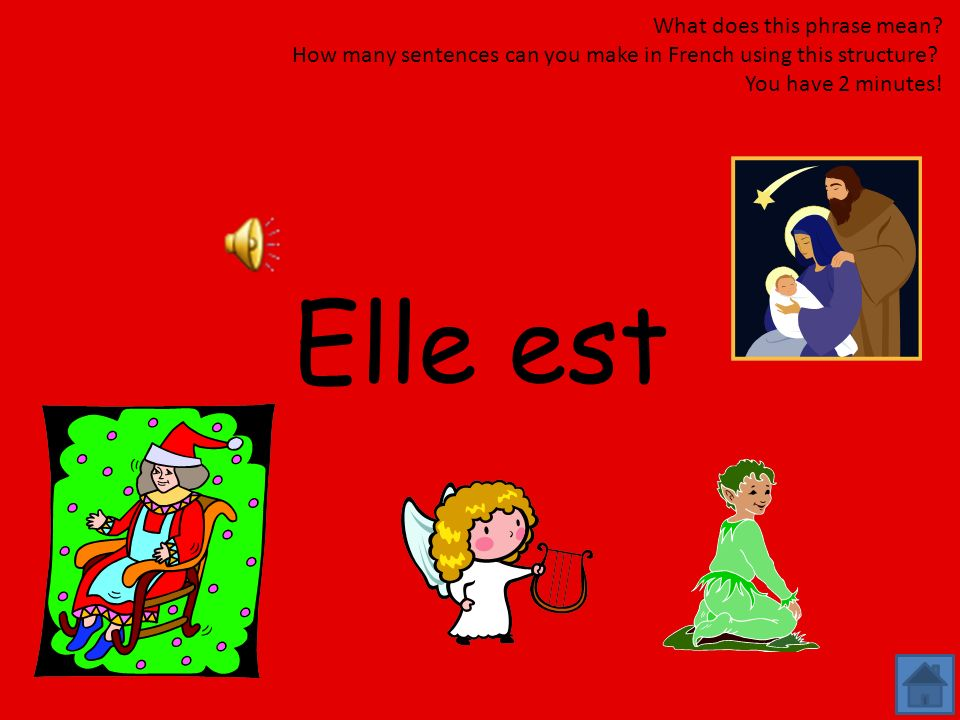 Elle est What does this phrase mean
