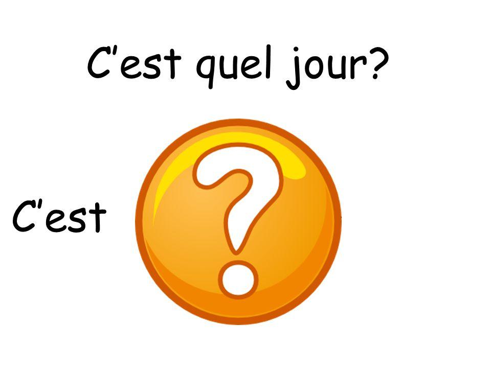 French early level les jours de la semaine ppt download - Quel jour est paques ...
