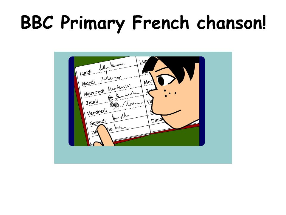 BBC Primary French chanson!